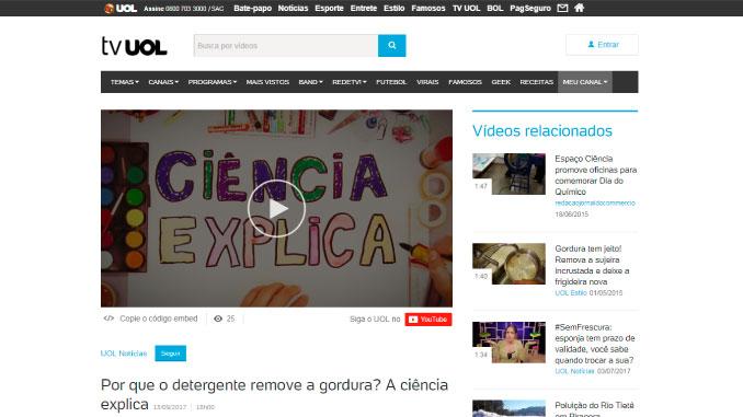 """A série """"Ciência Explica"""" passa a ser exibida também pela TV UOL"""