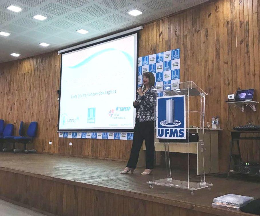 Professora Zaghete profere palestra em Encontro de Ciências dos Materiais na UFMS